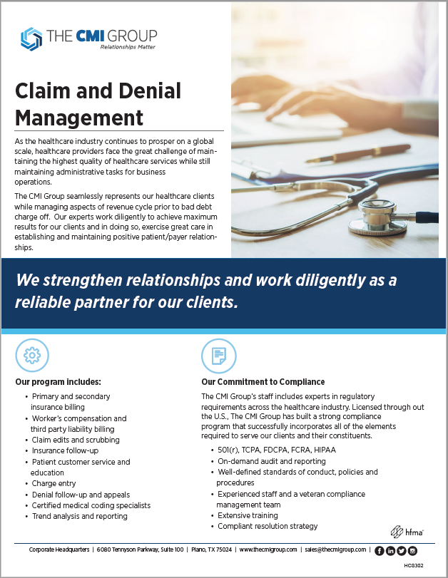 Claim and Denial Management Marketing Slick